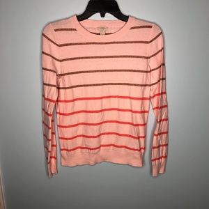 J. Crew Lurex Striped Teddie Sweater Small